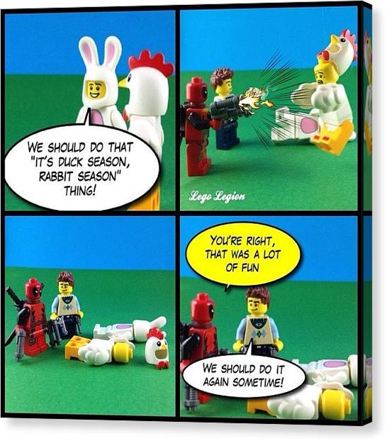 The Legion Canvas Print - What Died First The Chicken Or The by Lego Legion