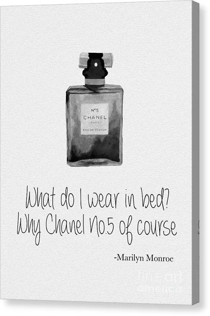 Marilyn Monroe Canvas Print - What Do I Wear In Bed? Black And White by Rebecca Jenkins