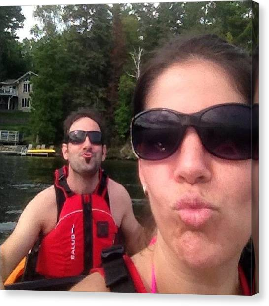 Kayaks Canvas Print - What Dorks 😜 #duckface #nofilter by Charlotte Roach