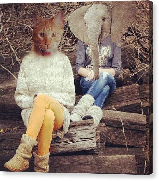 Unicorns Canvas Print - What I Do To Me And My Cousin When I'm by Tiffany Harned