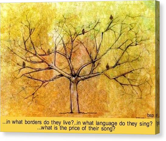 What Is The Price Of Their Song? Canvas Print by Robert Stagemyer