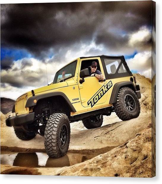 Offroading Canvas Print - What Is Your Opinion On Naming Her by James Crawshaw