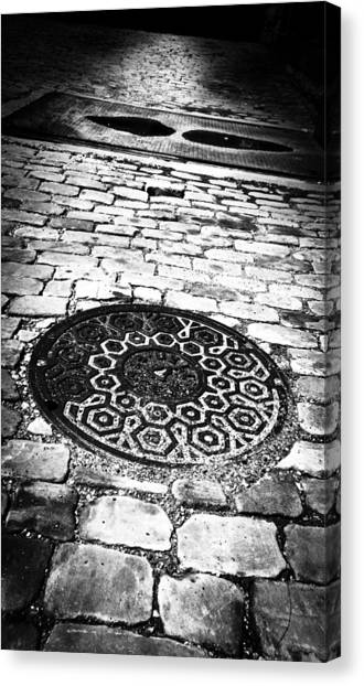 Pavers Canvas Print - What Lies Beneath These Streets Of Gold by Matthew Blum