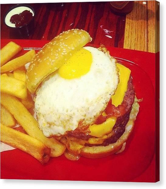 Hamburger Canvas Print - What!! #redrobin #hamburgers by Eddie Mendez