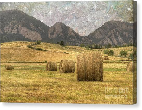 Hay Bales Canvas Print - What The Hay by Juli Scalzi