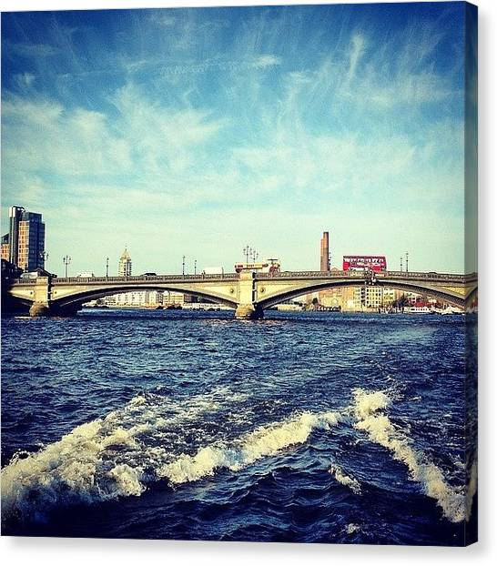 Big Red Canvas Print - Golden Battersea by Yossarian Crowe