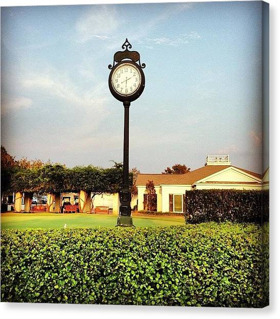 Golf Canvas Print - What Time Is It?  by Scott Pellegrin