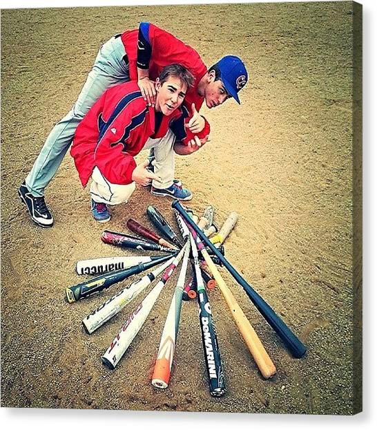 Baseball Teams Canvas Print - What Us Baseball Players Do After by Anthony Click