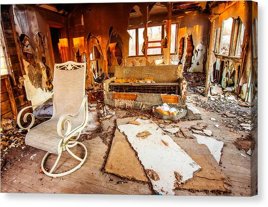 Drywall Canvas Print - What Used To Be by Gregory Ballos