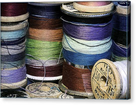 Spools Of Thread Canvas Print