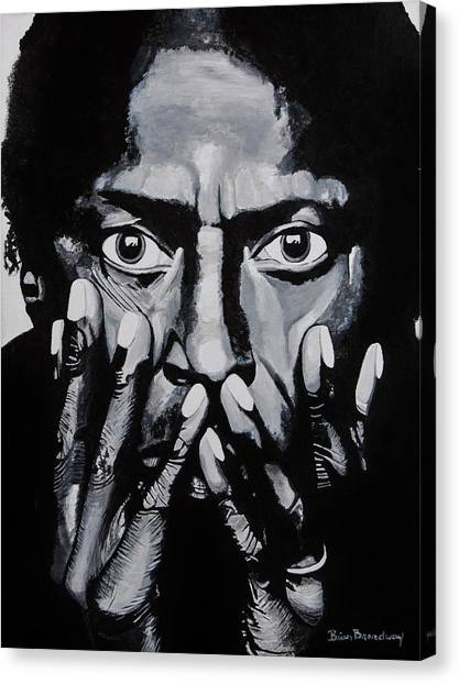 Miles Davis Canvas Print - What Would Miles Say by Brian Broadway