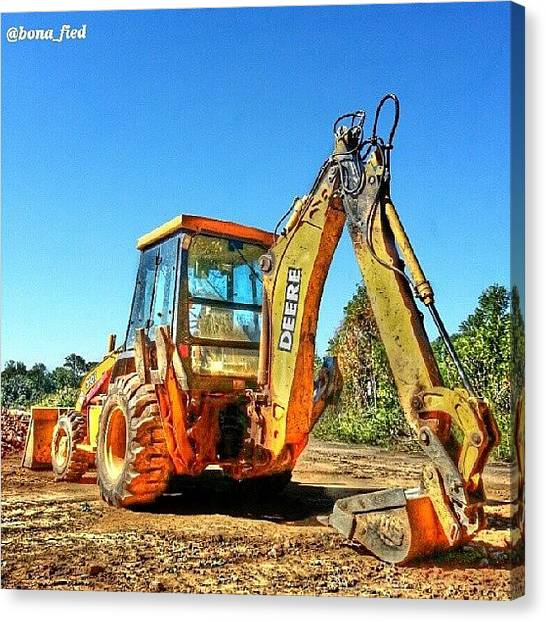Backhoes Canvas Print - What You Mean Get Back Ho!?! No, No I by Brian Lyons
