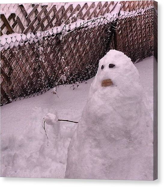 Snowball Canvas Print - What You Never Seen A #snowman Wit A by Crook Bladez