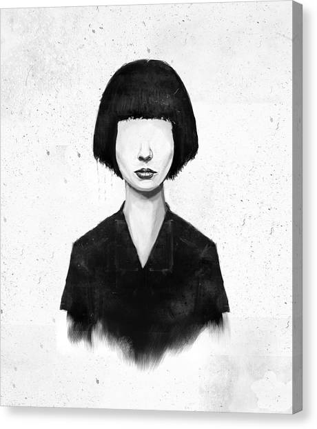 Portrait Canvas Print - What You See Is What You Get by Balazs Solti