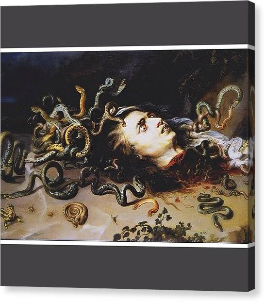 Baroque Art Canvas Print - Whatever You Do, Do Not Look Into Her by David S Chang