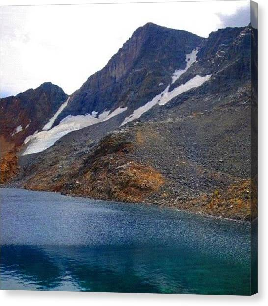 Glaciers Canvas Print - Whats Left Of Dana Glacier. It Used To by John Williams