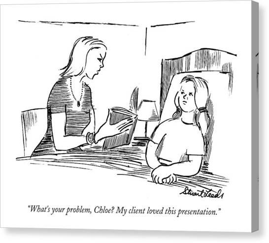 Presentations Canvas Print - What's Your Problem by Stuart Leeds