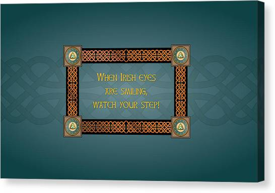 Whe Irish Eyes Are Smiling Canvas Print