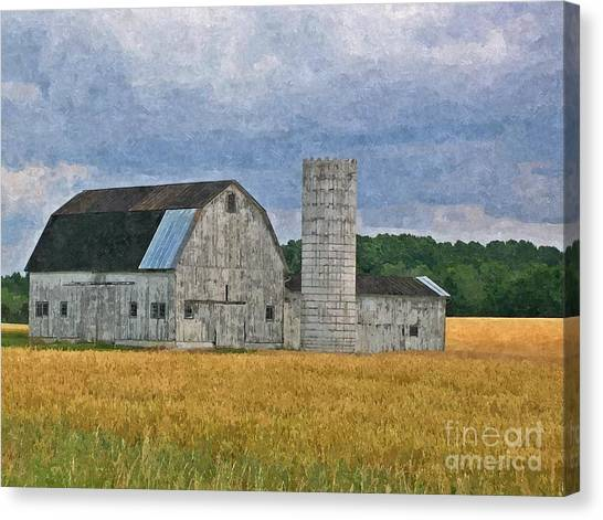 Wheat Field Barn Canvas Print