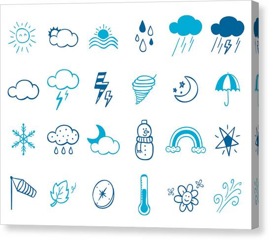 Wheater Icon Set Canvas Print by Eastnine Inc.
