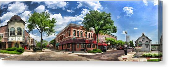 Wheaton Front Street Panorama Canvas Print