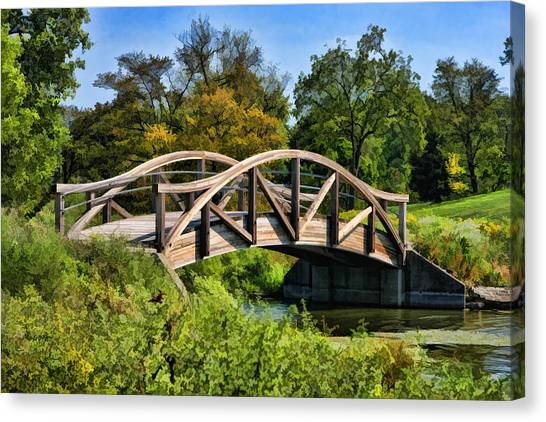 Wheaton Northside Park Bridge Canvas Print