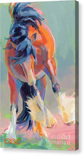 Draft Horses Canvas Print - Whee by Kimberly Santini