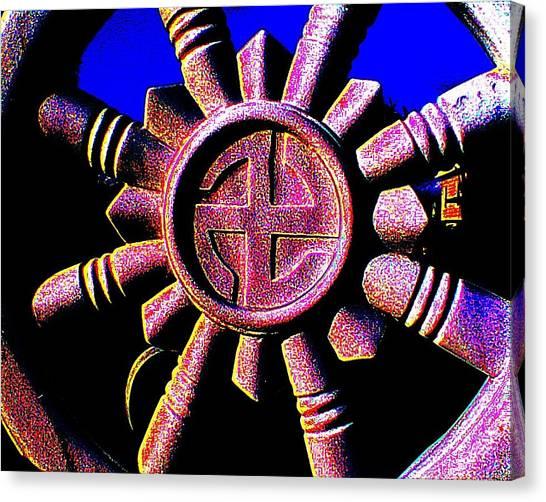 Buddhist Dharma Wheel 1 Canvas Print