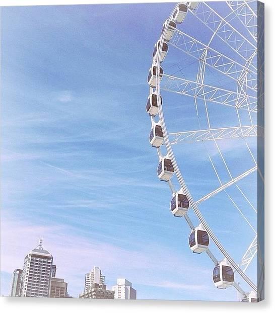 Kiwis Canvas Print - Wheel Of Brisbane by Jade Kiwi