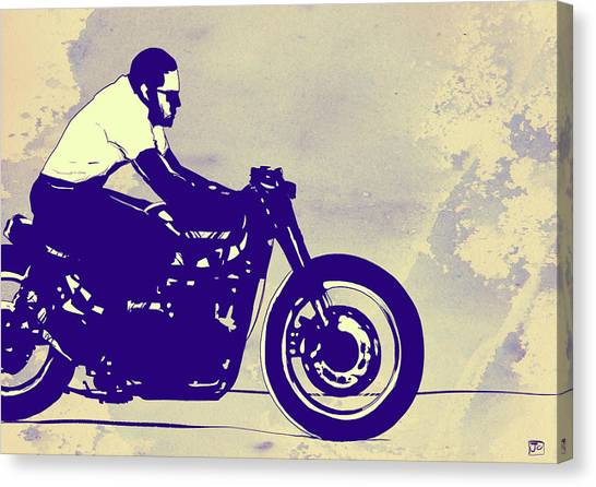 Motorcycle Canvas Print - Wheels by Giuseppe Cristiano
