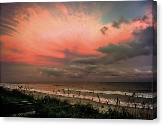 Beach Sunrises Canvas Print - When Angels Blush by Karen Wiles