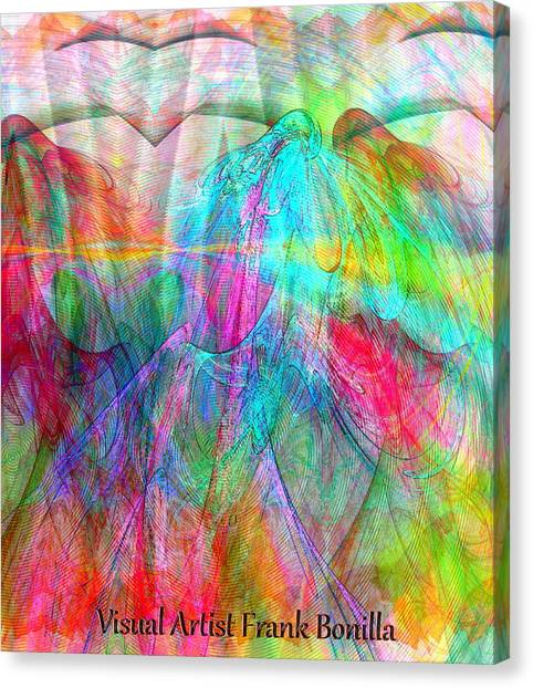 Canvas Print featuring the digital art When Doves Cry by Visual Artist Frank Bonilla
