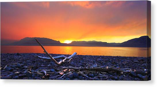 When Evening Gilds The Skies Canvas Print