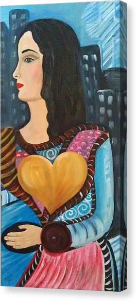 When Gaby Move Out Canvas Print by Deyanira Harris
