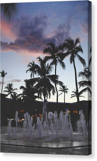 Beach Resort Vacation Canvas Print - When Magic's In The Air by Laurie Search
