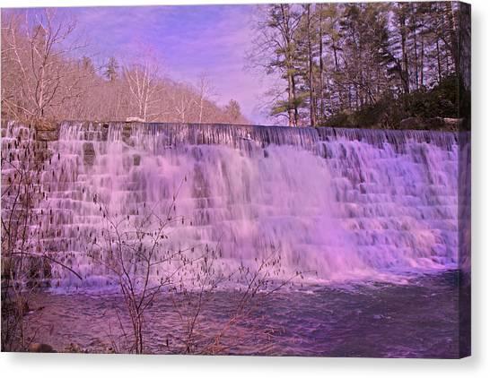 Tumbling Canvas Print - When Pink Falls by Betsy Knapp