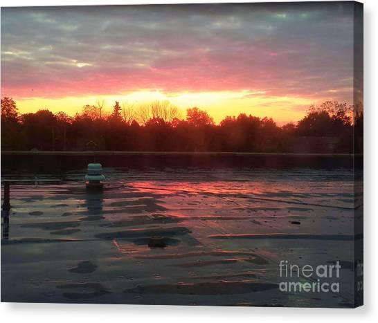 When Sunrise Calls Canvas Print by Judy Via-Wolff