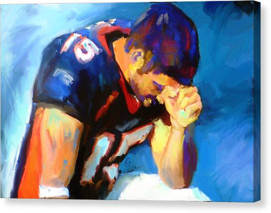 John Elway Canvas Print - When Tebow Was A Bronco by G Cannon