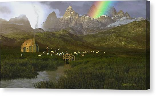 When The Grass Was Greener Canvas Print