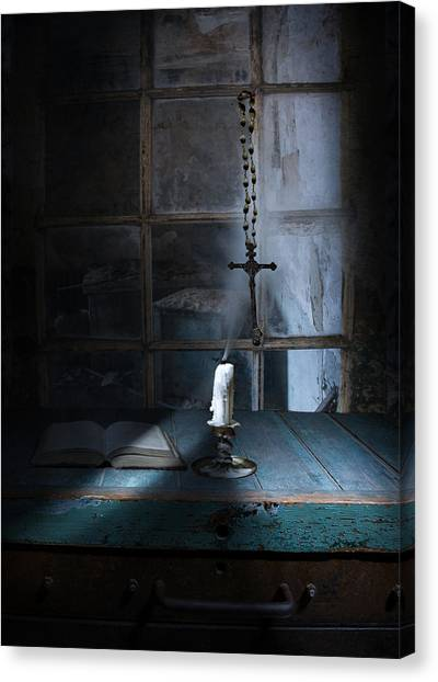 Atheism Canvas Print - When The Light Goes Out by Jeff Burgess