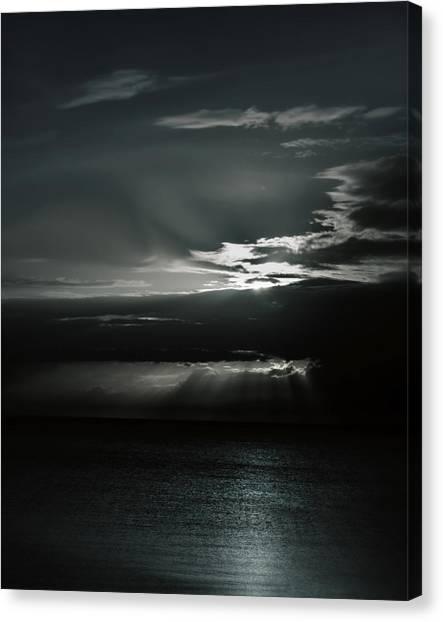When The Sun Goes Down... Canvas Print