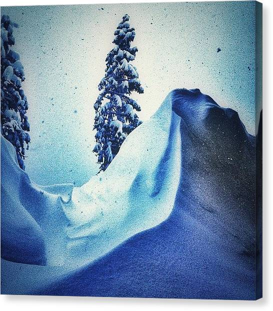 Snowflakes Canvas Print - When Will It Stop From Falling On by Amar Geddon