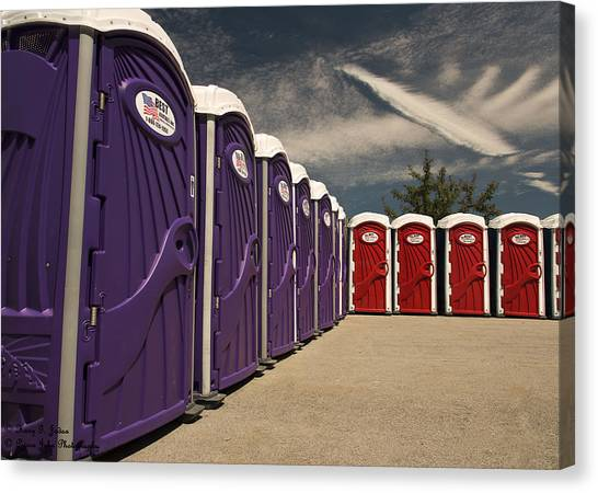 Portable Toilet Canvas Print   When You Gotta Go You Gotta Go By Hany J