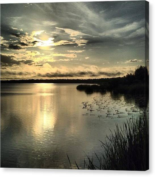 Lake Sunsets Canvas Print - When You Need Just A Few Minutes Of by Melissa Garcia
