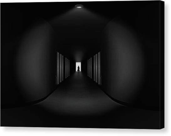 Tunnels Canvas Print - Where Are You Go ? by Aman Ali Surachman
