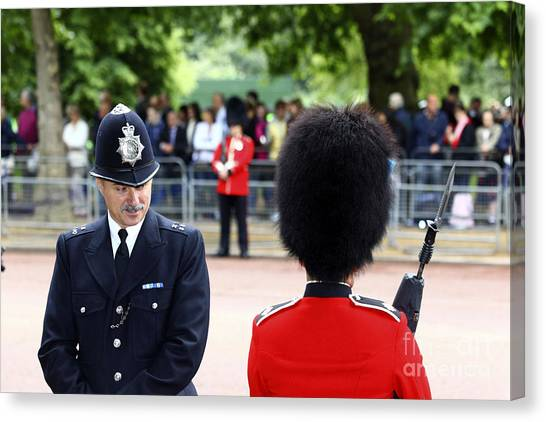Royal Guard Canvas Print - Where Can I Get A Uniform Like That by James Brunker