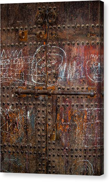 Where Do The Doors In Marrakech Lead? Canvas Print