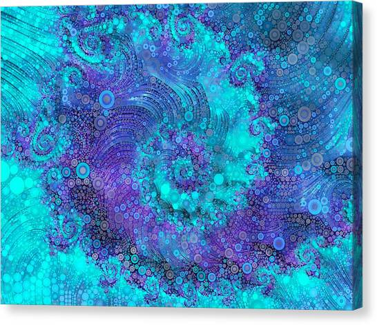 Fibonacci Canvas Print - Where Mermaids Play by Susan Maxwell Schmidt