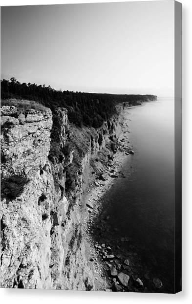 Cliffs Canvas Print - Where Sea Meets Land by Nicklas Gustafsson