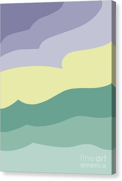 Where Sea Meets Sky Canvas Print